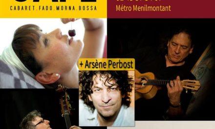 Lisbonne Café+Arsène Perbost au Café de Paris 11 MARS 🗓