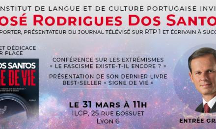 31 MARS Conférence et rencontre avec José Rodrigues Dos Santos 🗓