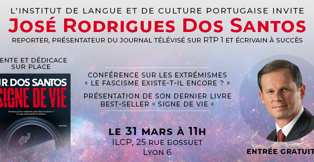 31 MARS Conférence et rencontre avec José Rodrigues Dos Santos