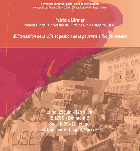 Les Midis de Brésil(s) : Militarisation de la ville et gestion de la pauvreté à Rio de Janeiro 🗓 🗺