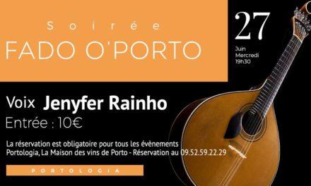 Soirée Fado O'Porto – Jenyfer Rainho 🗓 🗺